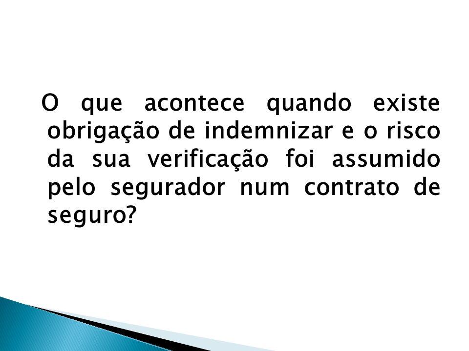 O que acontece quando existe obrigação de indemnizar e o risco da sua verificação foi assumido pelo segurador num contrato de seguro