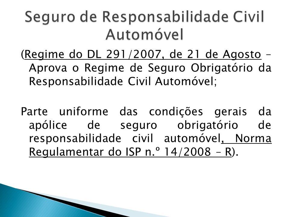 Seguro de Responsabilidade Civil Automóvel