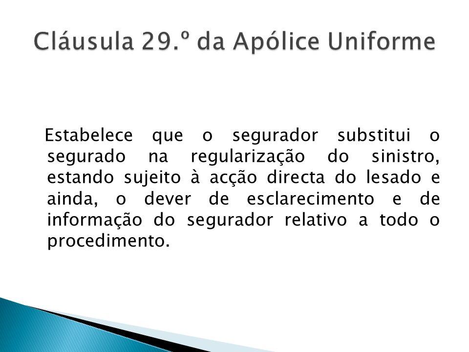 Cláusula 29.º da Apólice Uniforme