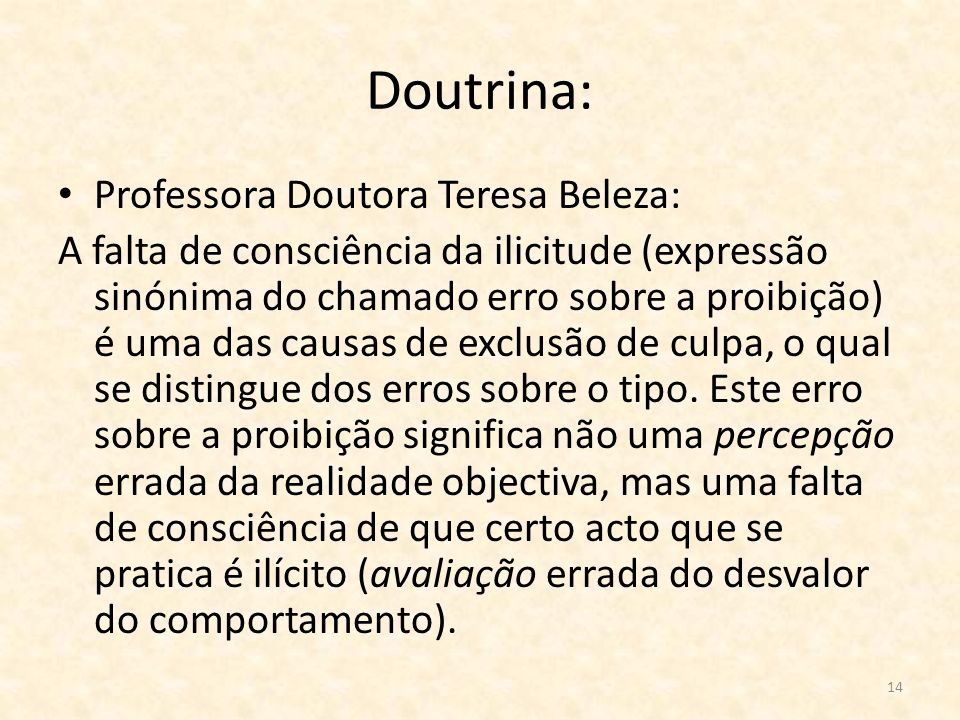 Doutrina: Professora Doutora Teresa Beleza: