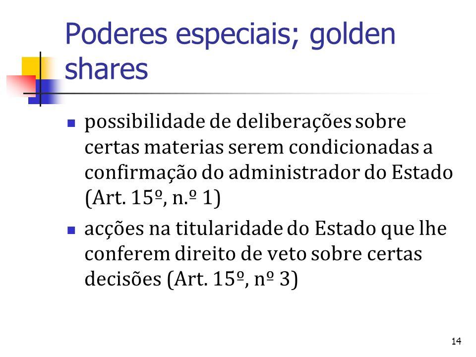 Poderes especiais; golden shares