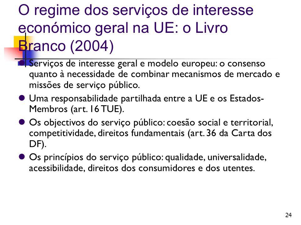 O regime dos serviços de interesse económico geral na UE: o Livro Branco (2004)