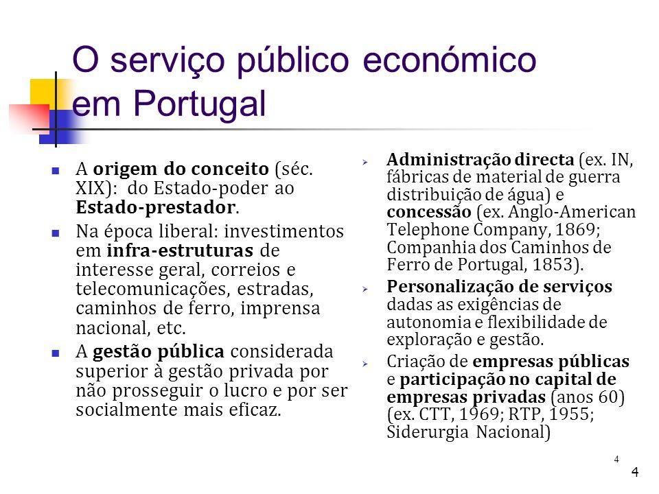 O serviço público económico em Portugal