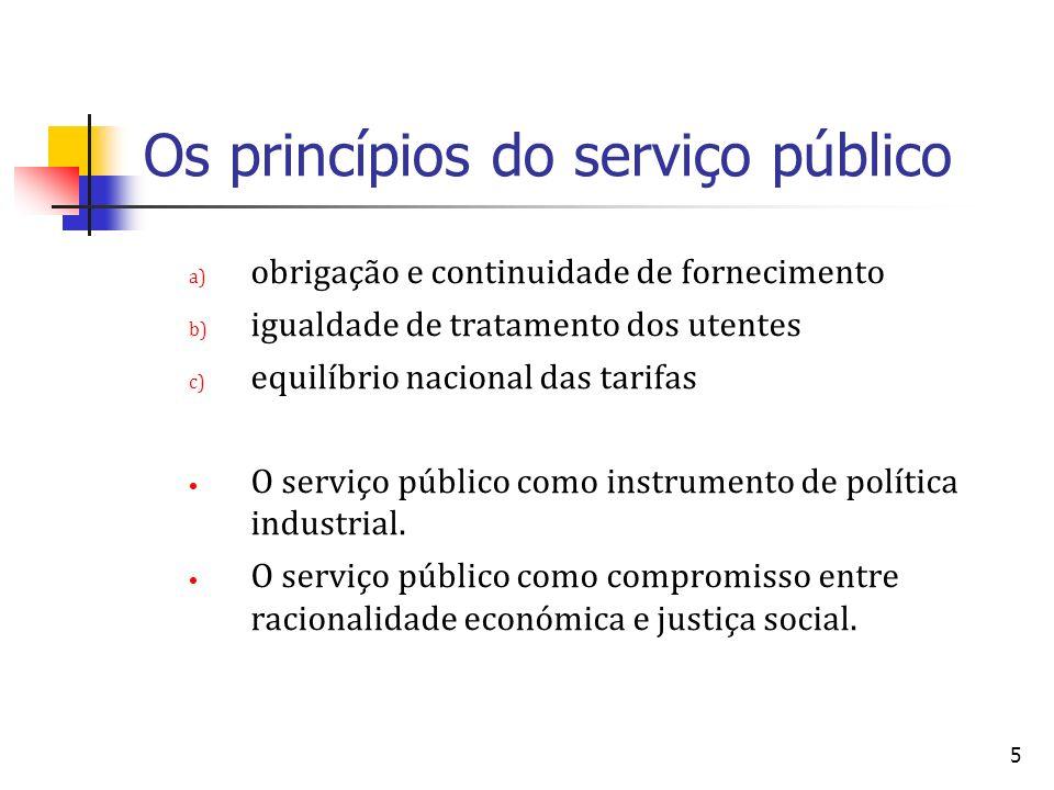 Os princípios do serviço público