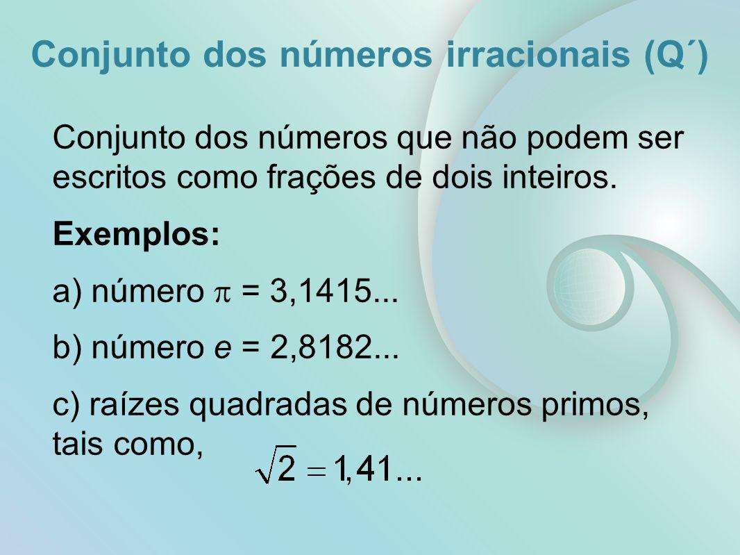 Conjunto dos números irracionais (Q´)