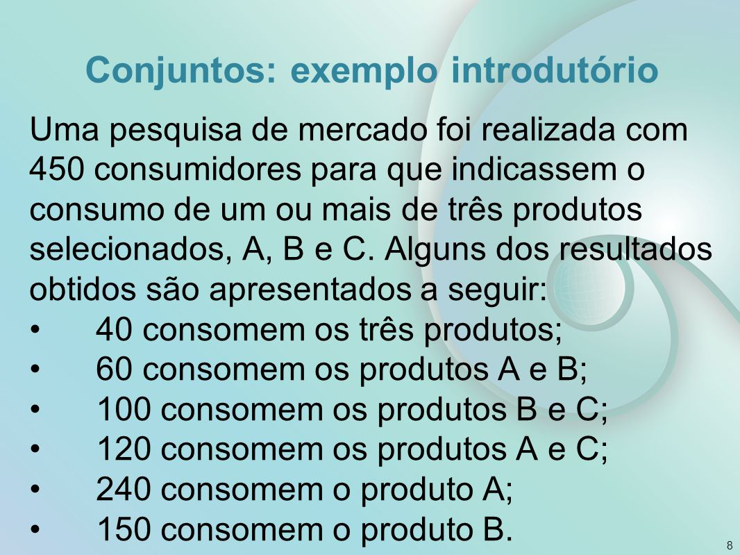 Conjuntos: exemplo introdutório