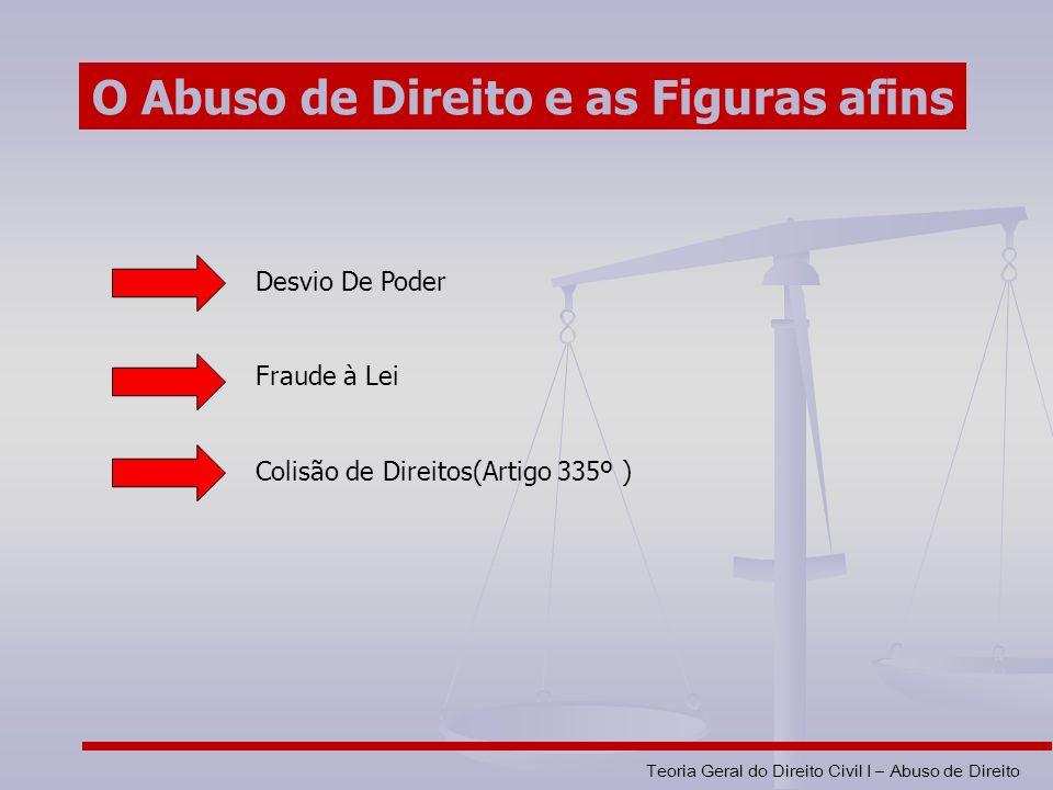 O Abuso de Direito e as Figuras afins