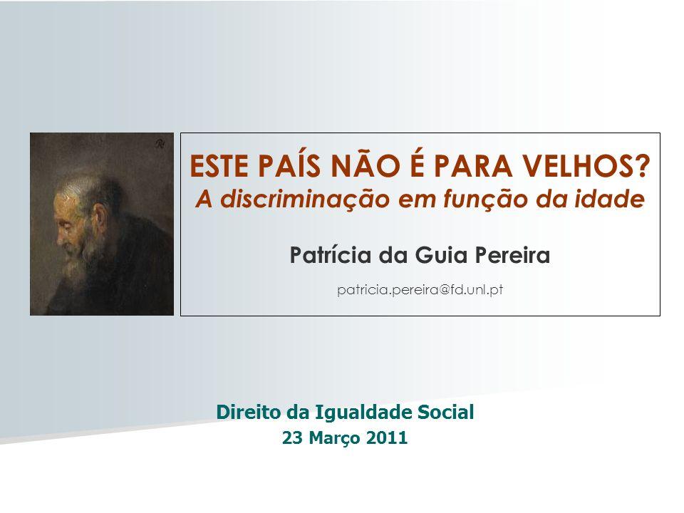 Direito da Igualdade Social 23 Março 2011