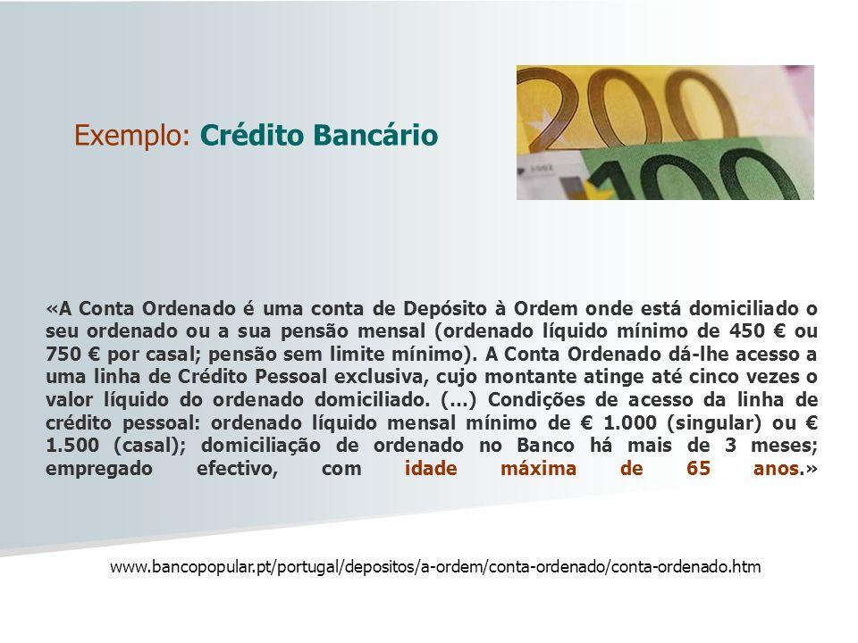 Exemplo: Crédito Bancário