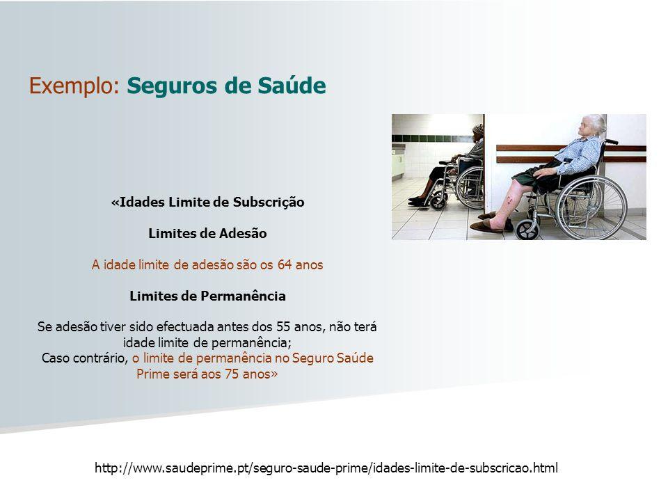 Exemplo: Seguros de Saúde
