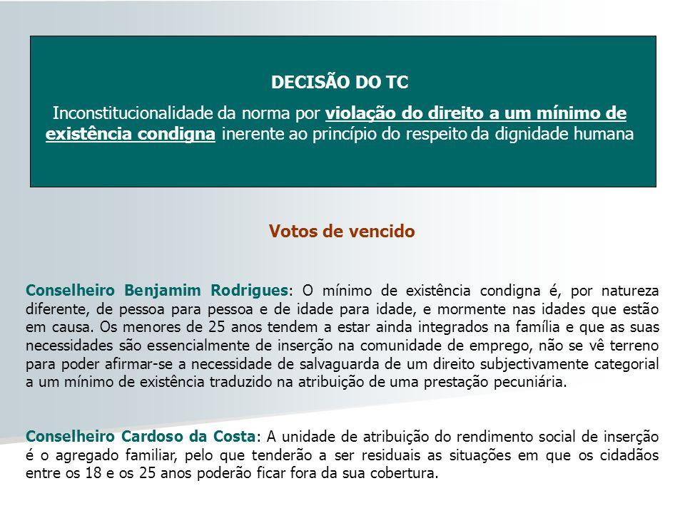 DECISÃO DO TC Votos de vencido