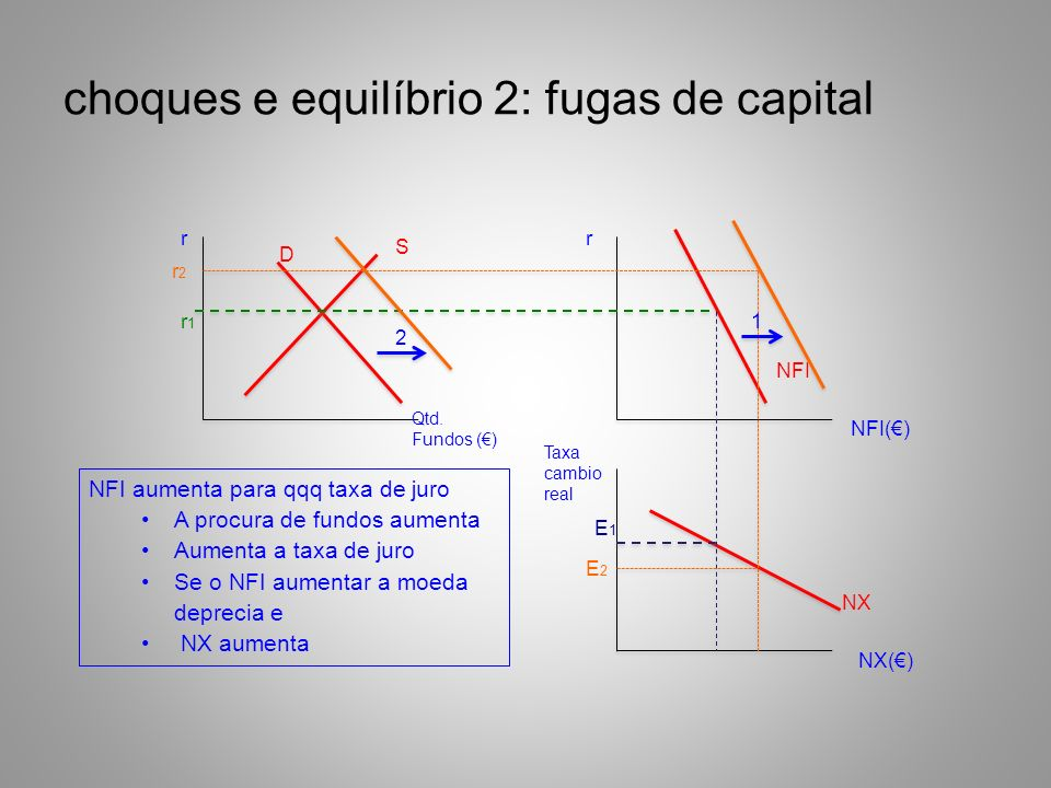 choques e equilíbrio 2: fugas de capital