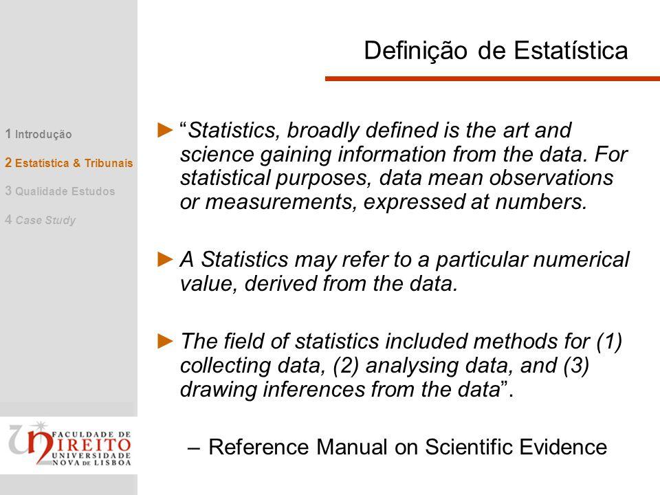 Definição de Estatística