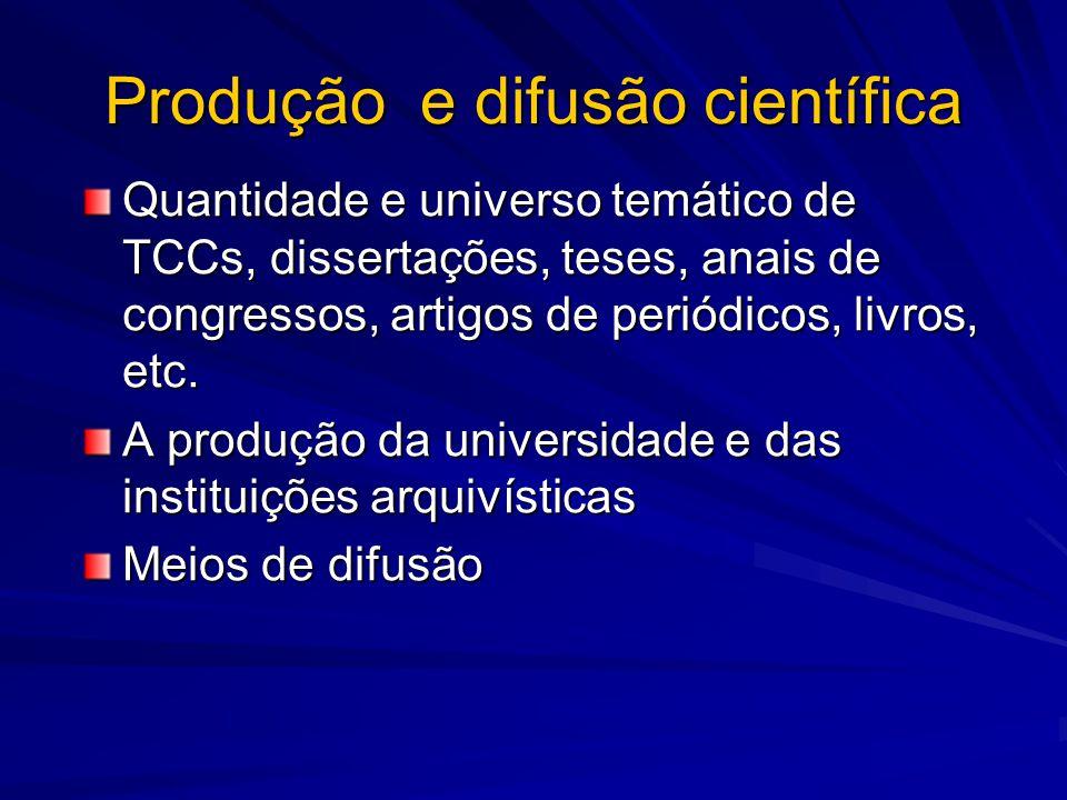 Produção e difusão científica