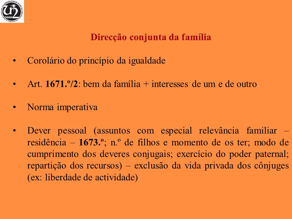Direcção conjunta da família