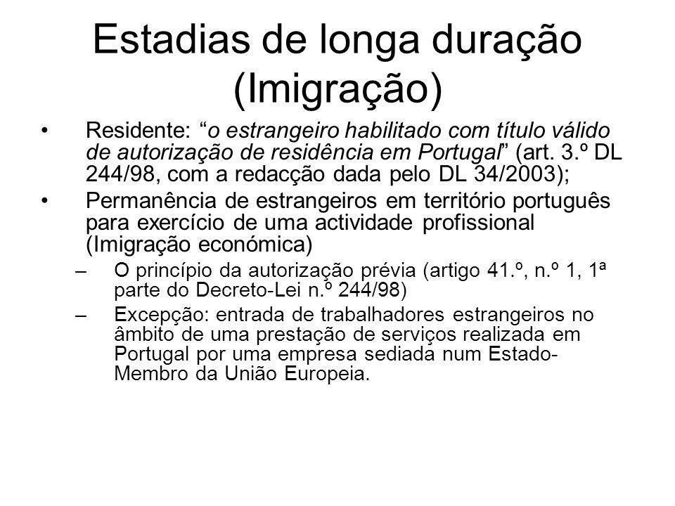 Estadias de longa duração (Imigração)