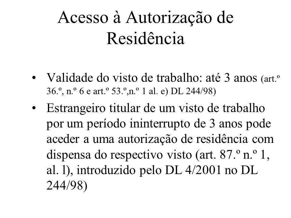Acesso à Autorização de Residência