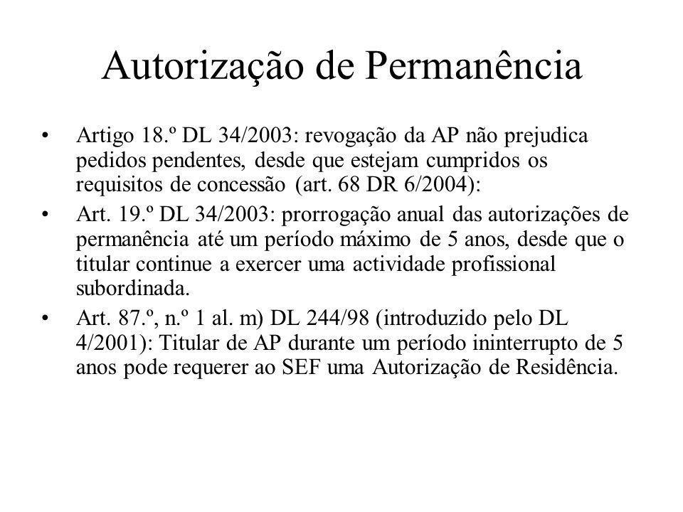 Autorização de Permanência