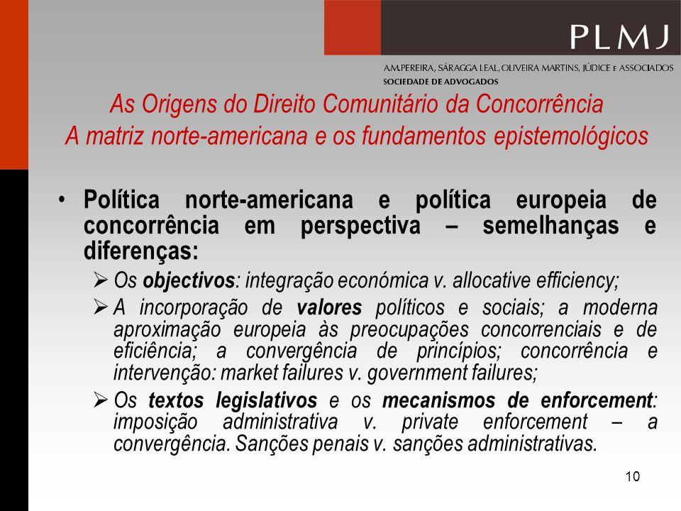 As Origens do Direito Comunitário da Concorrência A matriz norte-americana e os fundamentos epistemológicos