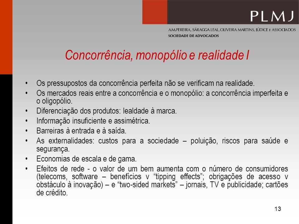 Concorrência, monopólio e realidade I
