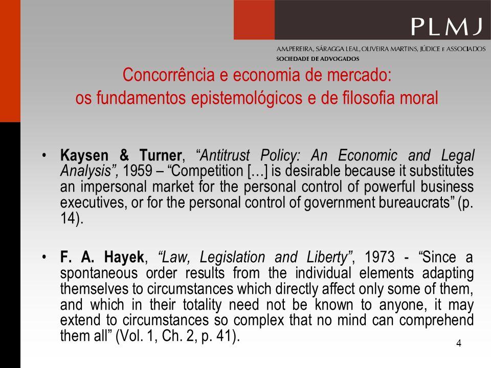 Concorrência e economia de mercado: os fundamentos epistemológicos e de filosofia moral