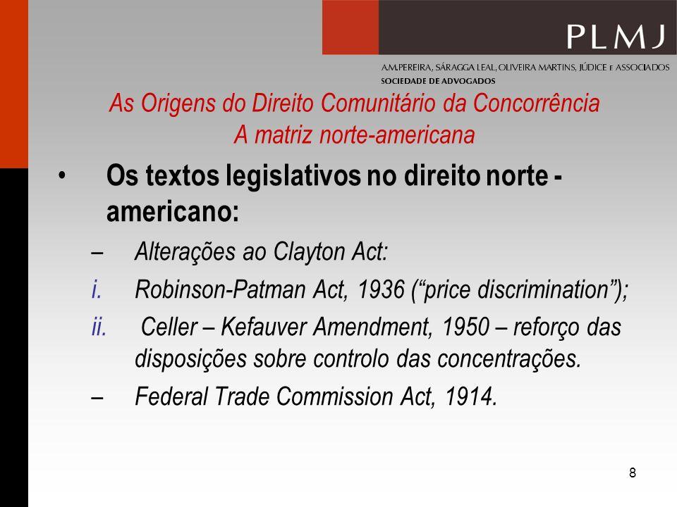 Os textos legislativos no direito norte - americano: