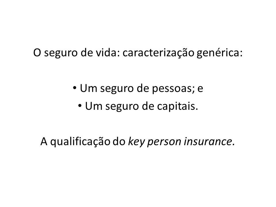 O seguro de vida: caracterização genérica: Um seguro de pessoas; e