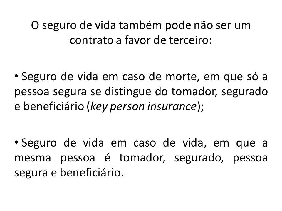 O seguro de vida também pode não ser um contrato a favor de terceiro: