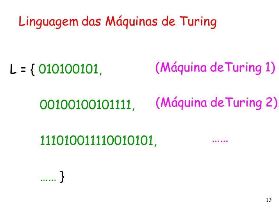 Linguagem das Máquinas de Turing