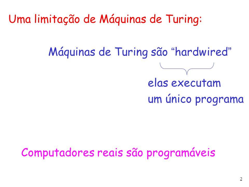Uma limitação de Máquinas de Turing: