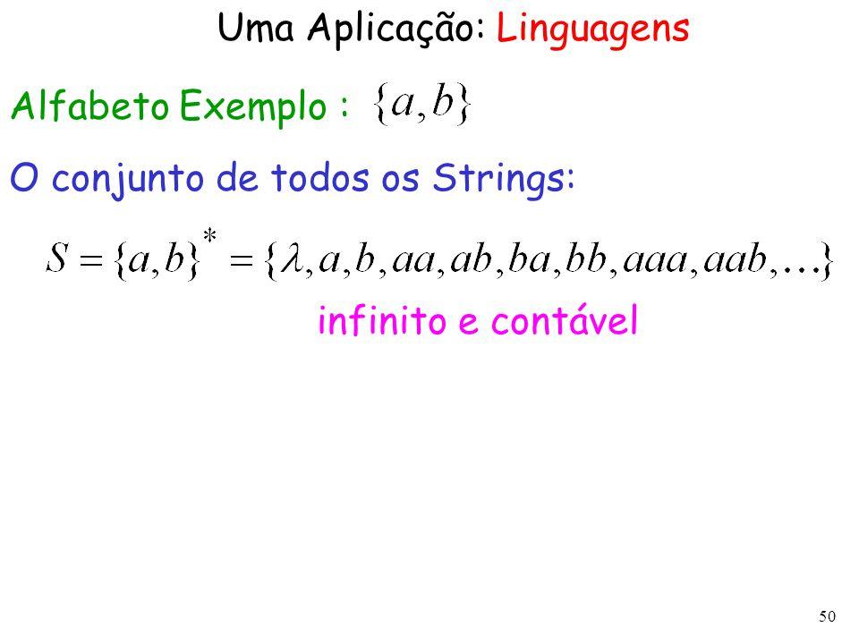 Uma Aplicação: Linguagens