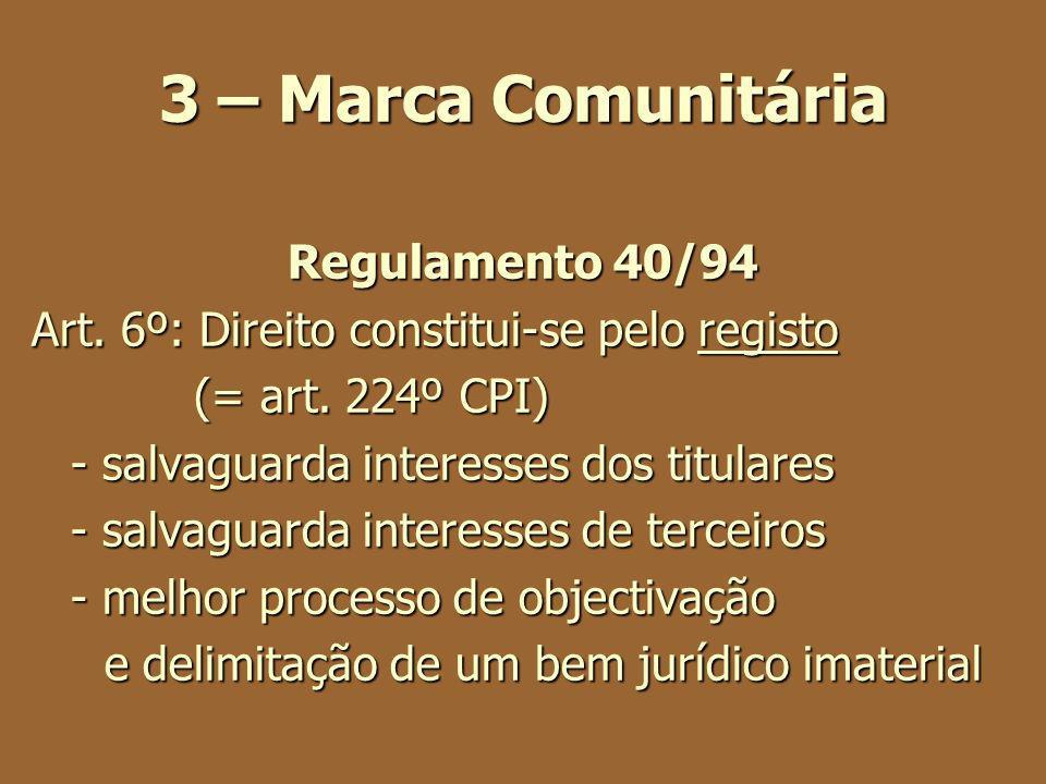 3 – Marca Comunitária Regulamento 40/94