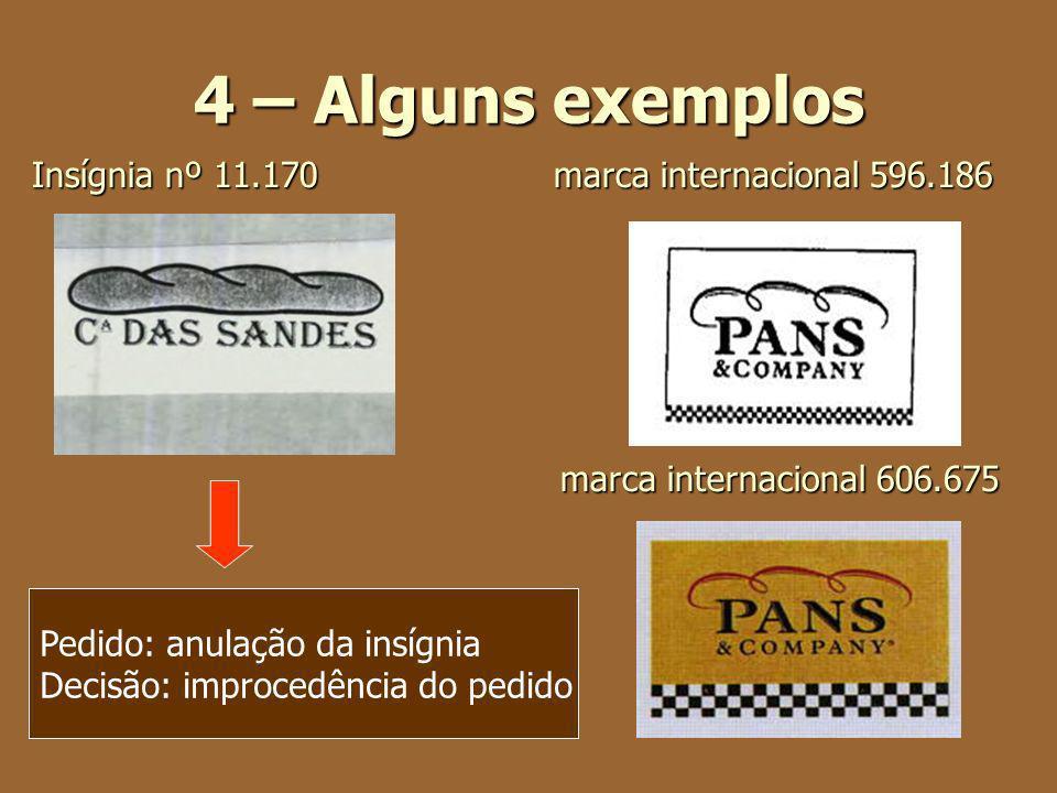 4 – Alguns exemplos Insígnia nº 11.170 marca internacional 596.186