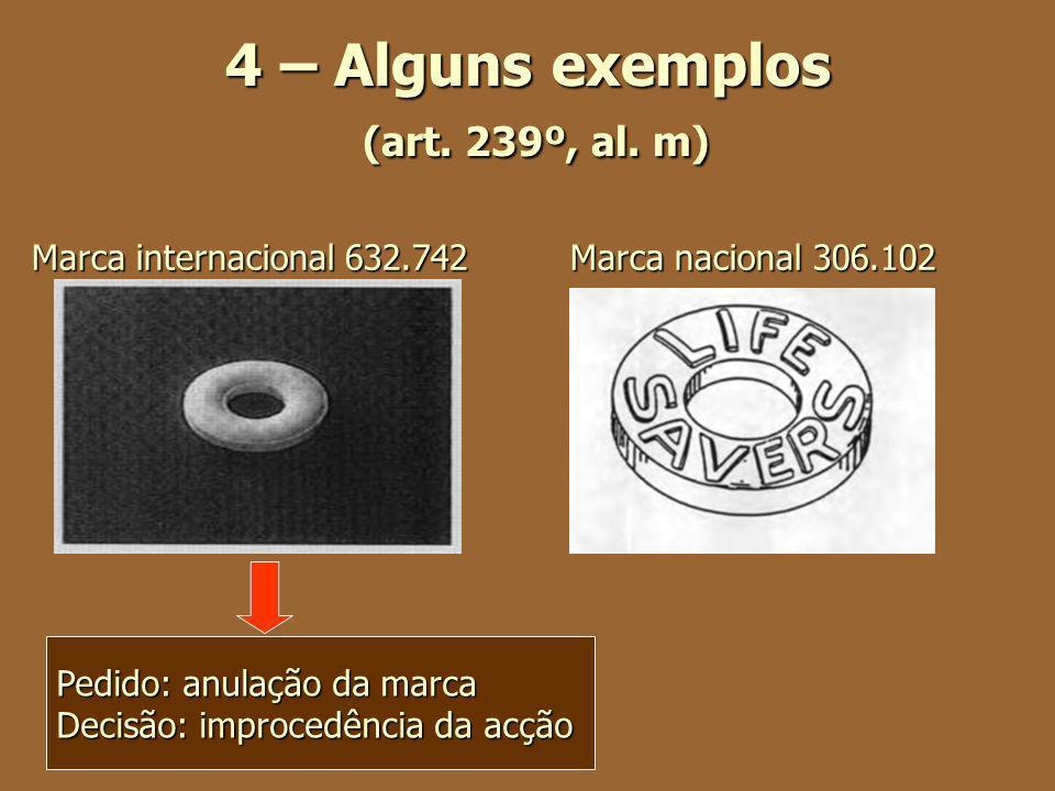 4 – Alguns exemplos (art. 239º, al. m)