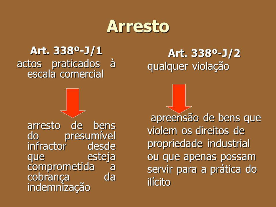 Arresto Art. 338º-J/1 actos praticados à escala comercial