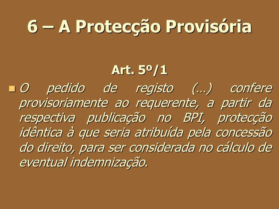 6 – A Protecção Provisória