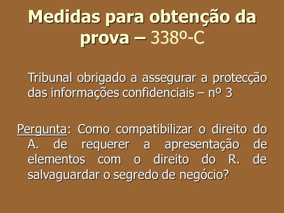 Medidas para obtenção da prova – 338º-C