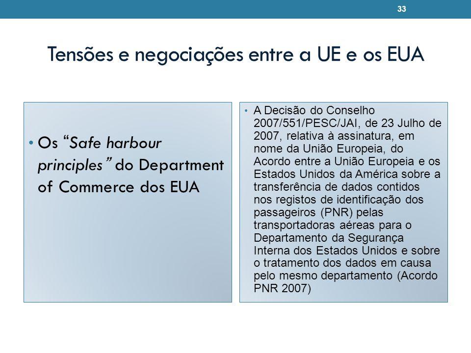 Tensões e negociações entre a UE e os EUA