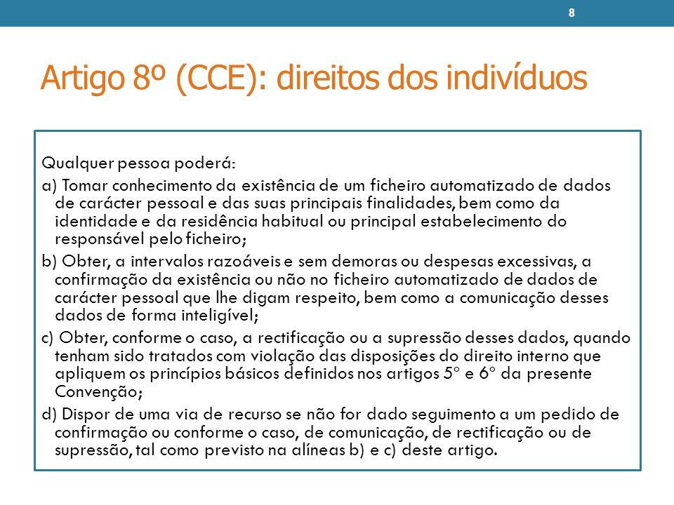 Artigo 8º (CCE): direitos dos indivíduos