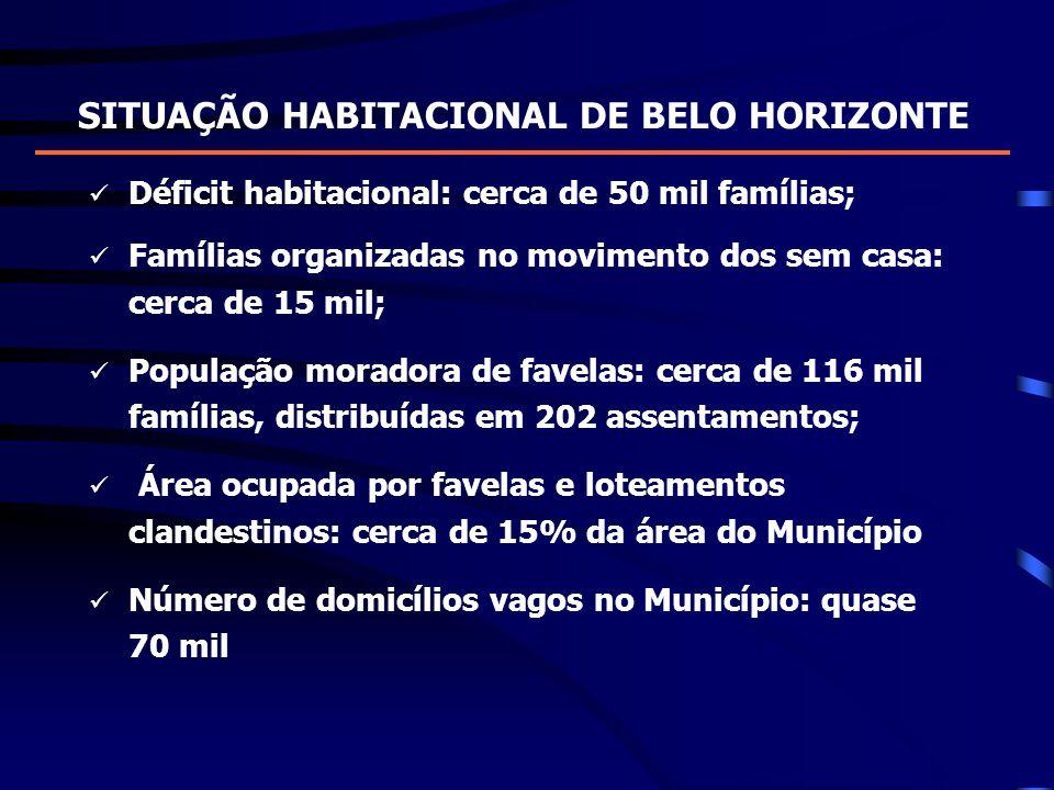 SITUAÇÃO HABITACIONAL DE BELO HORIZONTE