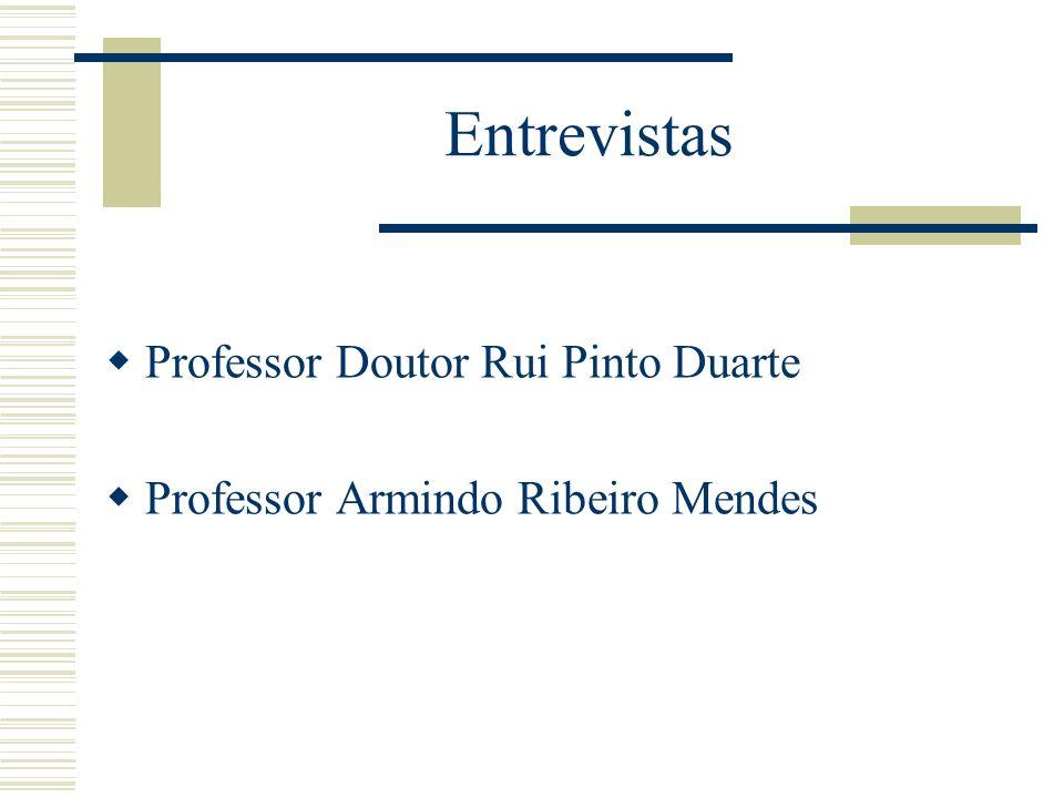 Entrevistas Professor Doutor Rui Pinto Duarte
