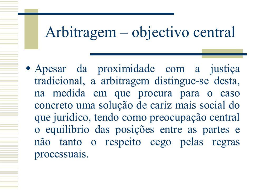 Arbitragem – objectivo central
