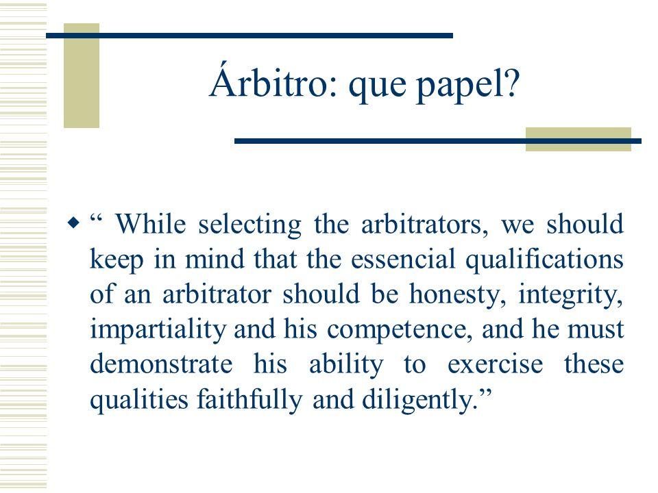 Árbitro: que papel