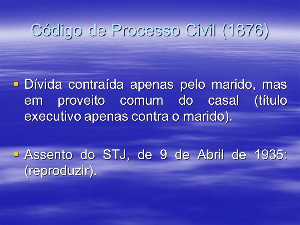 Código de Processo Civil (1876)