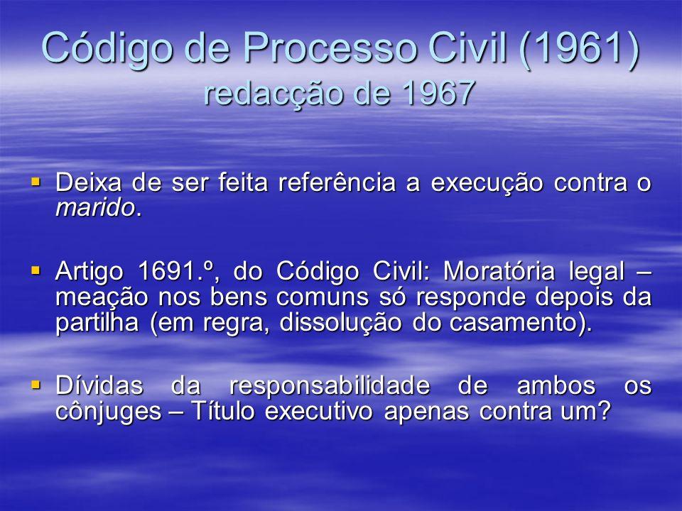 Código de Processo Civil (1961) redacção de 1967