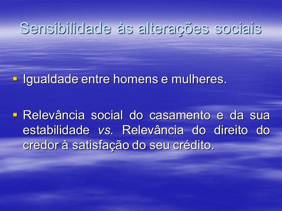 Sensibilidade às alterações sociais