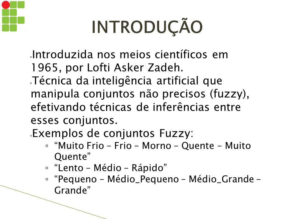 INTRODUÇÃO Introduzida nos meios científicos em 1965, por Lofti Asker Zadeh.