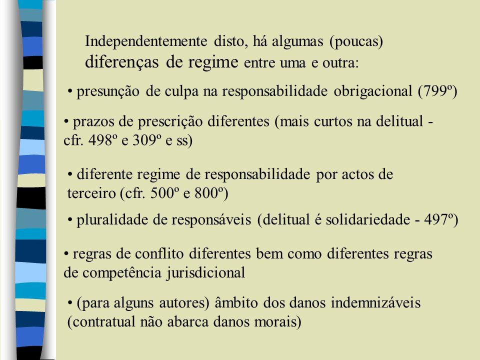 Independentemente disto, há algumas (poucas) diferenças de regime entre uma e outra:
