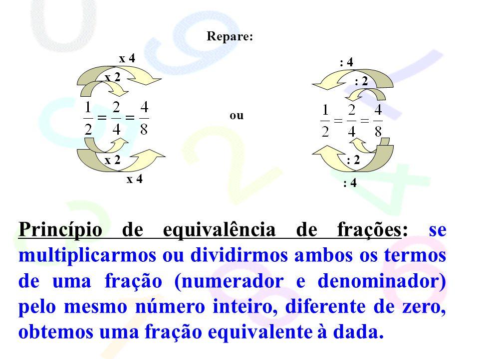 Repare: x 2. x 4. : 2. : 4. ou.