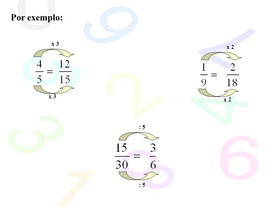 Por exemplo: x 3 : 5 x 2